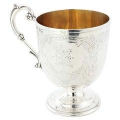 Antique Victorian Sterling Silver Mug