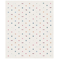 Stick Bianco, Funny Hand-Knotted Wool Silk Rug
