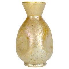 Loetz Candia Papillon Art Nouveau Iridescent Glass Vase