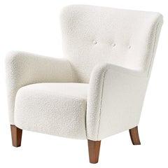 Custom Made RYO Boucle Lounge Chair