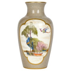 Royal Worcester Porcelain Vase Hand Painted with Chinese Sailing Boats