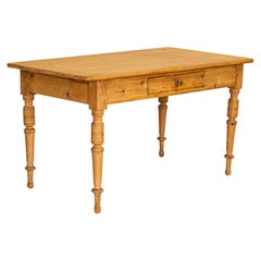 Antique Pine Kitchen Table Writing Desk from Denmark