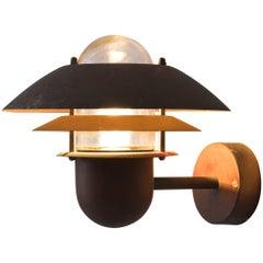 Danish Three-Layered Wall Light in Copper