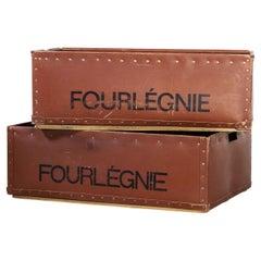 1940's Original Suroy Industrial Storage Boxes, Pair