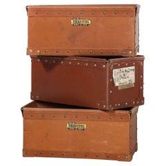 1940's Original Suroy Low Industrial Storage Boxes - Set of Three
