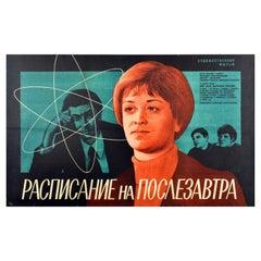 Original Vintage Film Poster School Schedule Literature Teacher Science Maths
