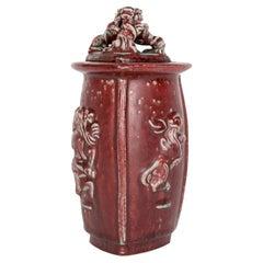 Bode Willumsen Royal Copenhagen Mythical Figure Sculptural Lidded Pottery Jar