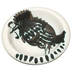 """Picasso Edition Madoura """"Bird with a worm"""" Ash-Tray, 1952"""
