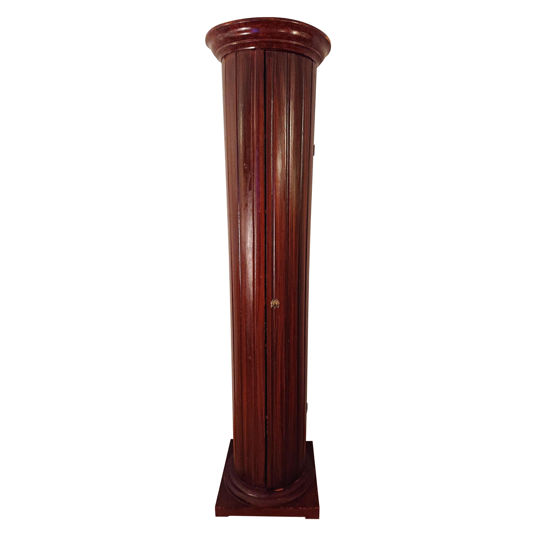 19th Century Gustavian Column Cabinet