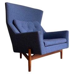 "Jens Risom ""Big Chair"" Model 2117 Danish Modern Lounge Chair"