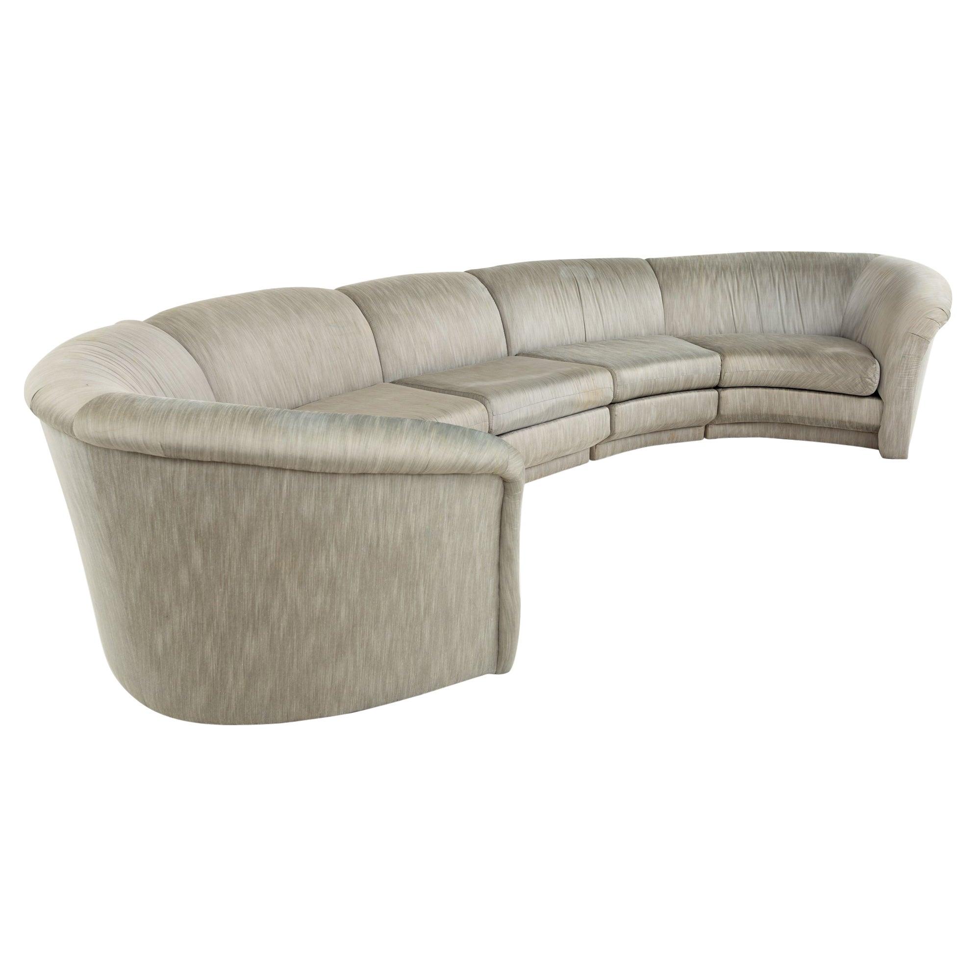 Thayer Coggin Mid Century Circular Sectional Sofa