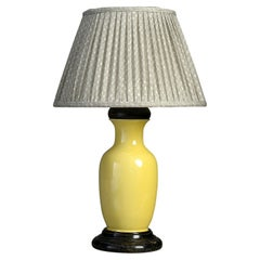 19th Century Yellow Glazed Pottery Vase Lamp
