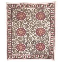 Large Silk Suzani from Samarkand Uzbekistan, 1930s