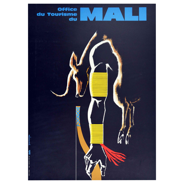 Original Vintage Travel Poster Mali West Africa Office Du Tourisme Hunter Design