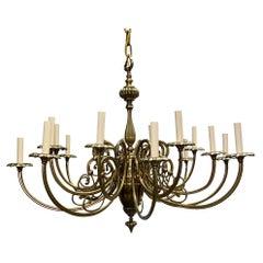 Neoclassic Gilt Bronze Chandelier