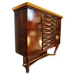 Elegant Italian Art Deco Dry Bar Cabinet by Michele Merighi 1940