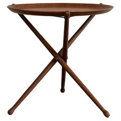 Nils Trautner Teak Folding Table Swedish Campaign Style