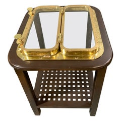 Solid Brass Ships Porthole Table