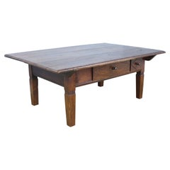 Antique Two Drawer Alsacian Cherry Coffee Table