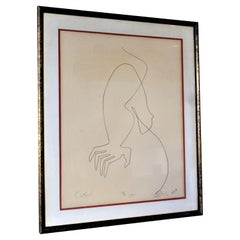 """Lithograph """"Contour"""" by Alfred Van Loen, 1965"""