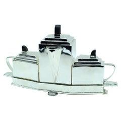 Art Deco Style Silver Plated Tea Set