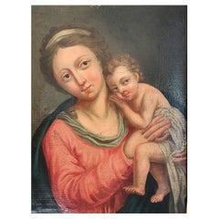 "French School XVIIIth Century ""Virgin and Child"""
