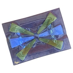 Mid-Century Fused Art Glass Ashtray by Higgins