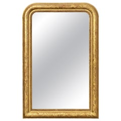 Large Louis Philippe Arch Top Gilt Mirror from France (H 38 1/2 x W 25 1/8