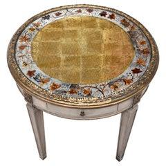 Directoire Style Verre Eglomese Parcel Gilt Table