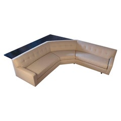 Custom Angular Sofa by Harvey Probber with Sofa Table / Writing Desk