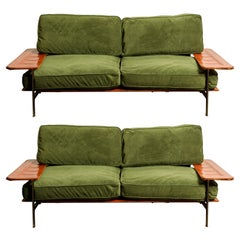 Early 'Diesis' Loveseat Sofas by Paolo Nava for B&B Italia, c 1979 Italy, Signed