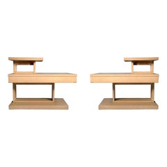 Pair of Lane Architectural End Tables