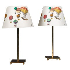 Pair of Late 20th Century Italian Side Lamps by Fornasetti