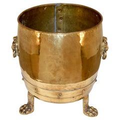 19th Century Brass Coal Hod