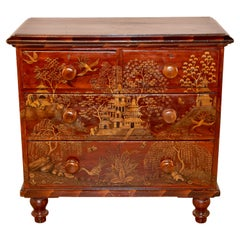 19th Century English Painted Chinoiserie Chest