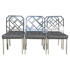 Vintage DIA Mirror Chrome Dining Chairs, Set of Six