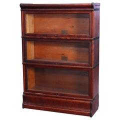 Antique Arts & Crafts Globe Wernicke Mahogany Barrister Bookcase, c1910