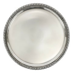 19th Century English Egg and Dart Silver-plate Butler's Tray