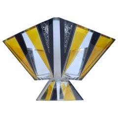 Art Deco Glass Comport Centrepiece, by Karl Palda, c1930