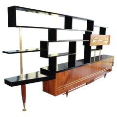 Mid-Century Modern Wall Unit Bookshelf Room Divider by Frank Kyle