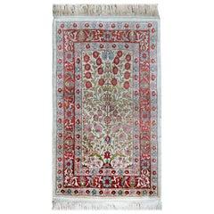 Vintage Turkish Silk Hereke Rug