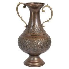 Middle Eastern Moorish Copper Footed Vase