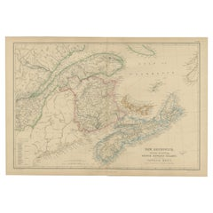 Antique Map of New Brunswick by W. G. Blackie, 1859