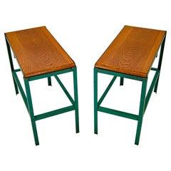 Pair of Metal industrial End Tables