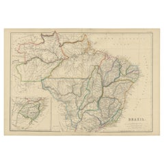 Antique Map of Brazil by W. G. Blackie, 1859