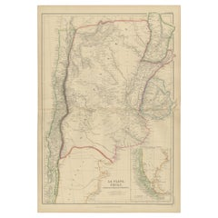 Antique Map of La Plata, Chili, by W. G. Blackie, 1859