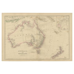 Antique Map of Australia and New Zealand by W. G. Blackie, 1859