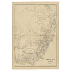 Antique Map of New South Wales and Victoria by W. G. Blackie, 1859