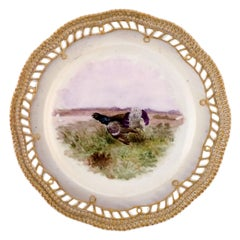 Early and Rare Royal Copenhagen Fauna Danica Plate in Hand-Painted Porcelain