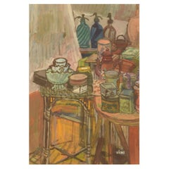 Naomi Vicas 'b. 1920', French Artist, Gouache on Paper, Still Life, Mid-20th C